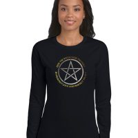 bide the wiccan rede you must ladies pagan shirt