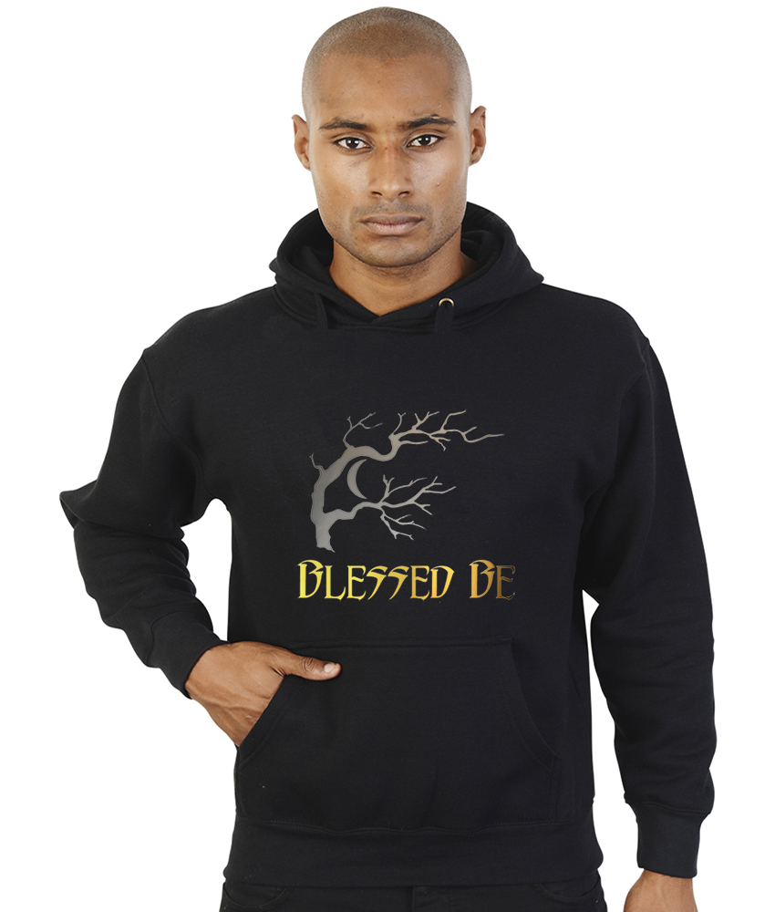 blessed be with barren tree pagan hoodie