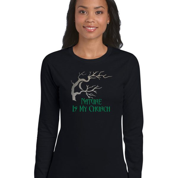 nature is my church ladies pagan shirt