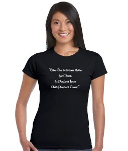 bide the wiccan rede quotation pagan shirt