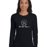 do no harm with pentacle ladies pagan shirt