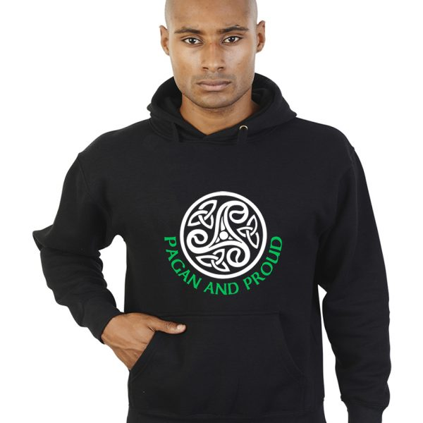 pagan and proud celtic pattern hoodie