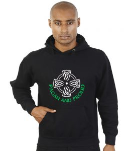 pagan and proud celtic cross hoodie