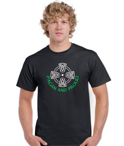 pagan and proud celtic cross shirt