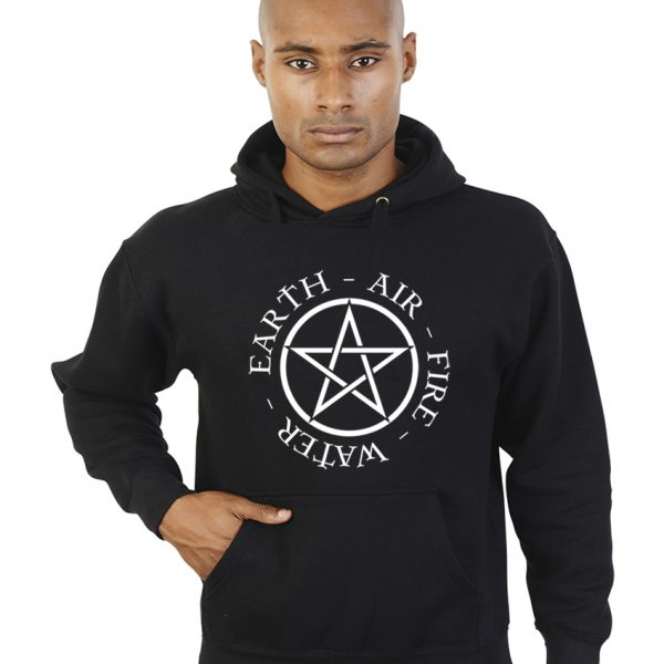 pentacle with elements pagan hoodie