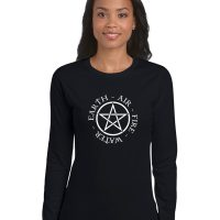 pentacle with elements ladies pagan shirt