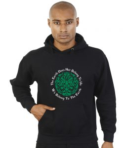 the earth does not belong to us pagan hoodie