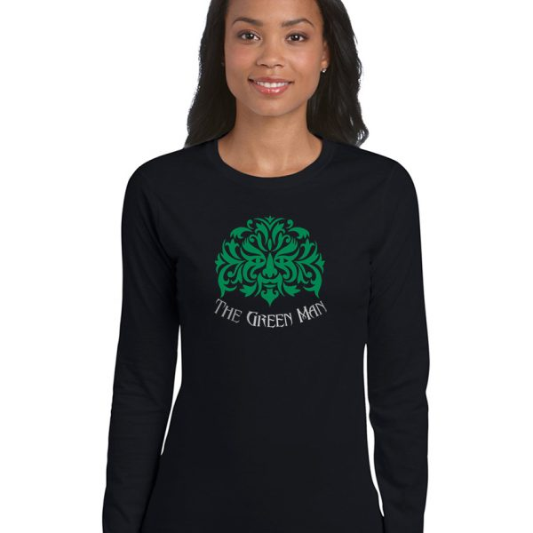 the green man ladies pagan shirt