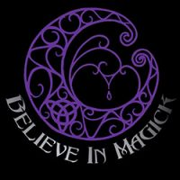 believe in magick with fancy moon ladies pagan shirt