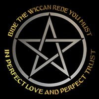 bide the wiccan rede with pentacle image pagan shirt
