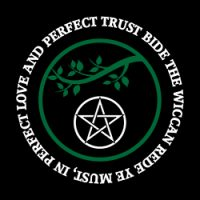 bide the wiccan rede with branch pagan design
