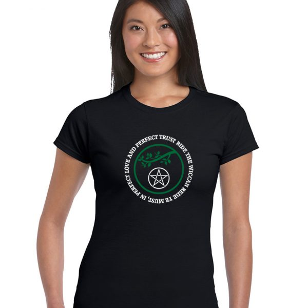 bide the wiccan rede with branch pagan shirt