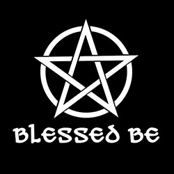 blessed be with pentacle design