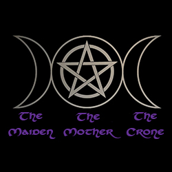 maiden mother and crone with triple moon ladies pagan shirt