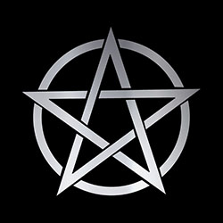 large silver pentacle