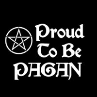proud to be pagan with small pentacle image design