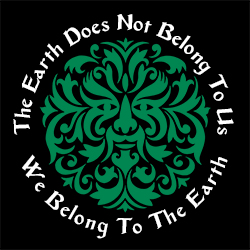 the earth does not belong to us pagan design