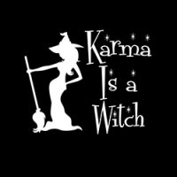 karma is a witch ladies pagan design