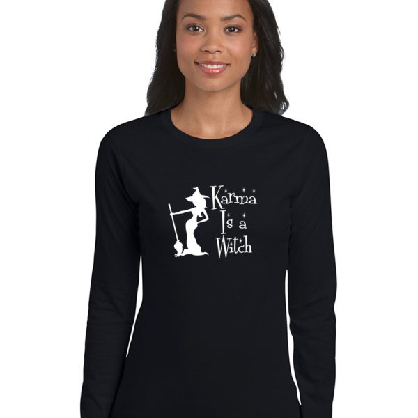 karma is a witch ladies pagan shirt