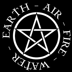 pentacle with elements