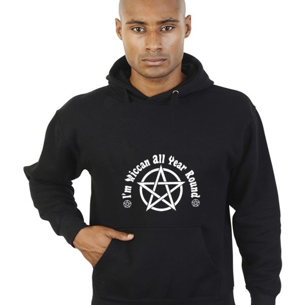 i'm wiccan all year round hoodie design