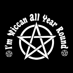 i'm wiccan all year round shirt design