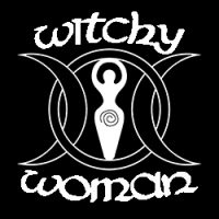 witchy woman with goddess symbol ladies pagan design