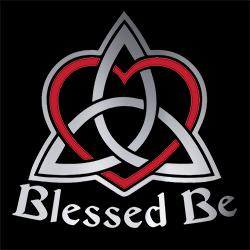 blessed be with triquetra ladies pagan shirt