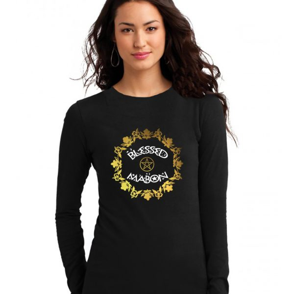 blessed mabon ladies pagan shirt