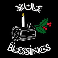 yule blessing pagan design